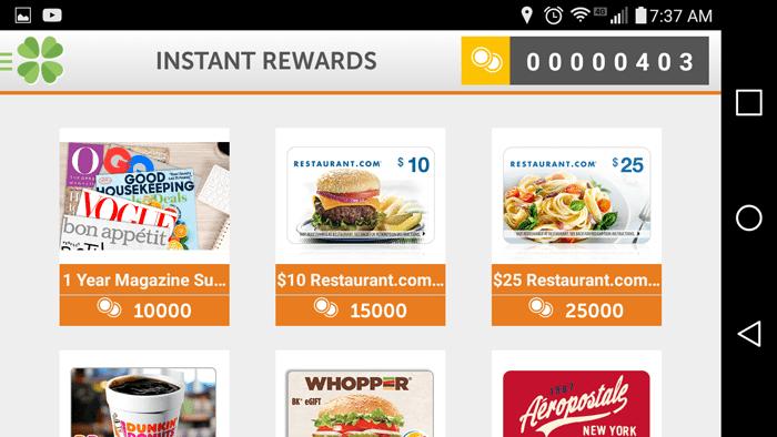 Lucktastic Rewards