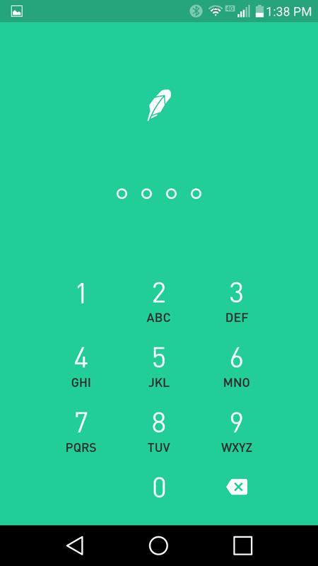 Robinhood App Lock