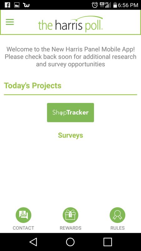 The Main Hub Of The Harris Poll App