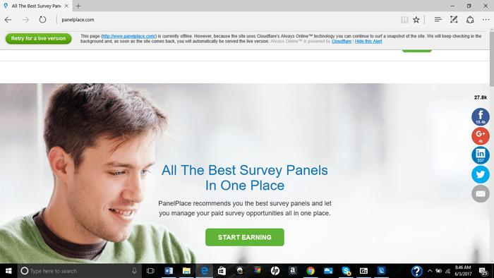 The PanelPlace Website Was Offline