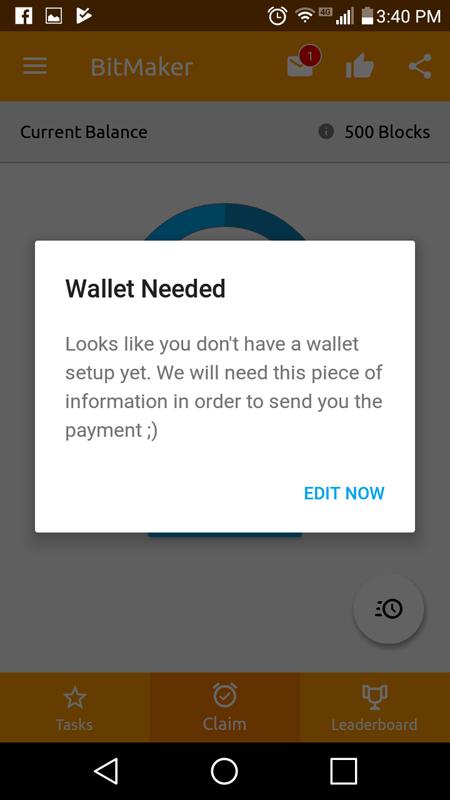Wallet Needed