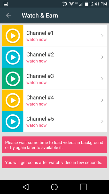 Watch And Earn Video Channels