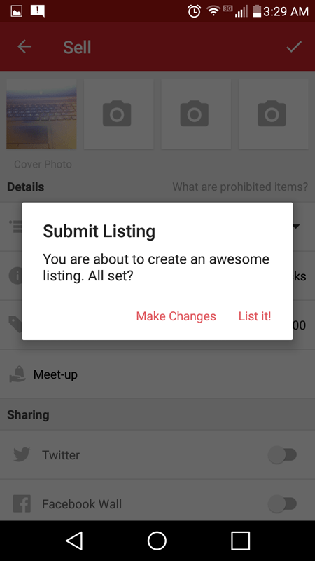 Creating A Listing In Carousell