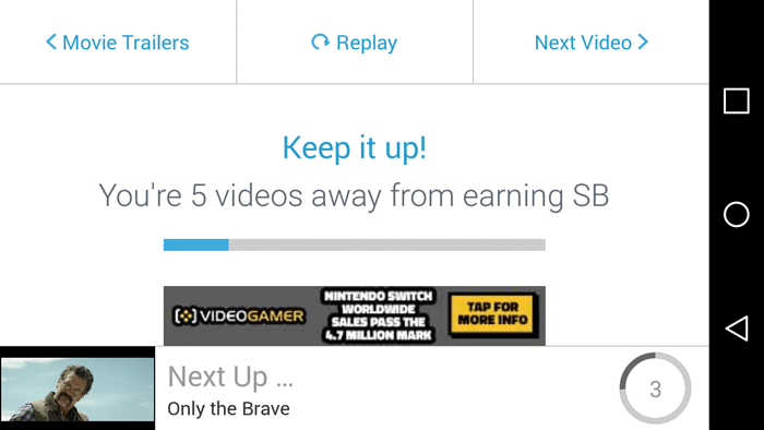 Five Videos Away From Earning Swag Bucks