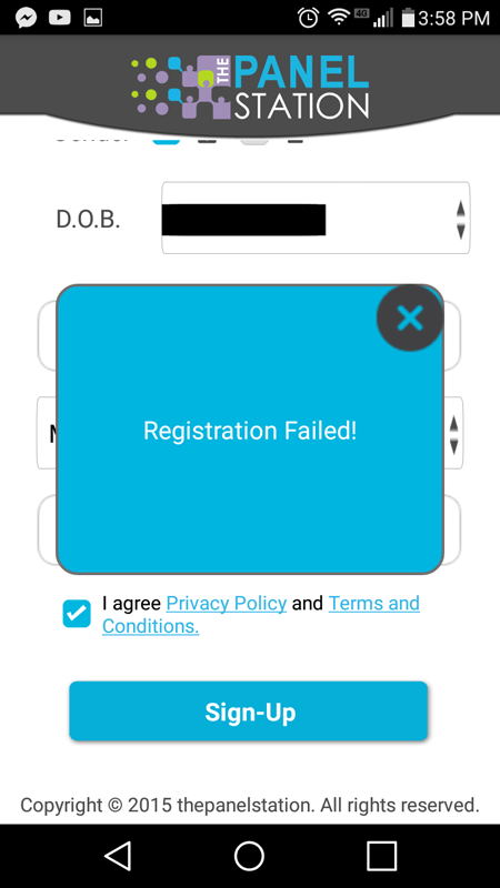 Login Failed