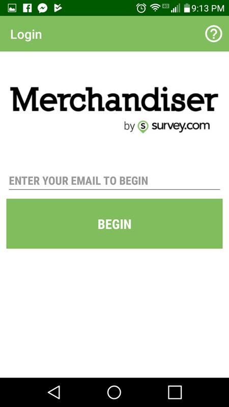 Merchandiser Login Page