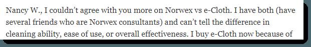 Norwex versus e-Cloth