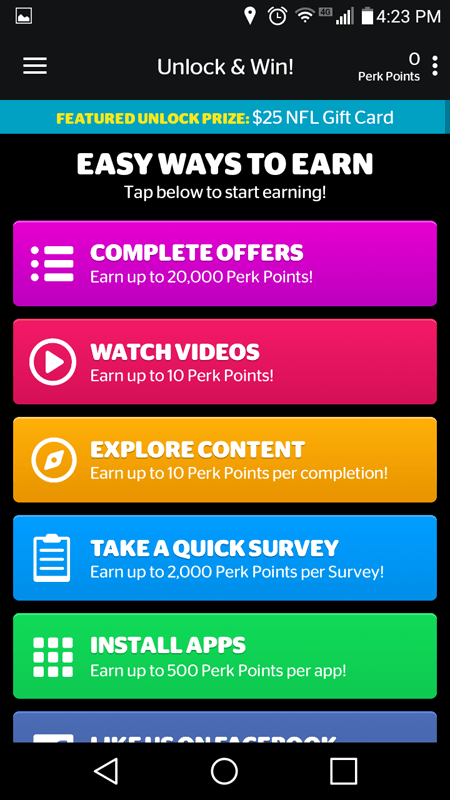 Other Ways To Earn Points In The Unlock And Win App