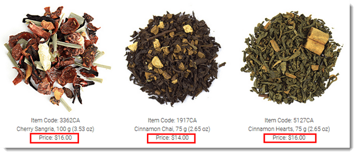 Selection of Tea from Steeped Tea