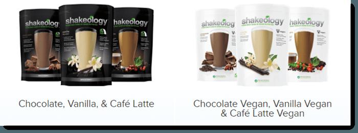 Shakeology product selection