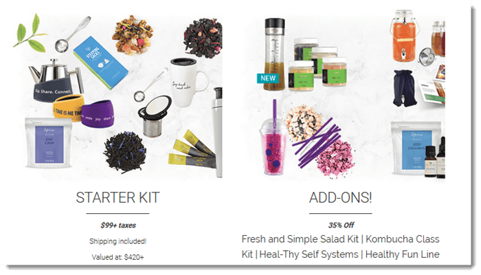 Starter Kit and Addons from Steeped Tea