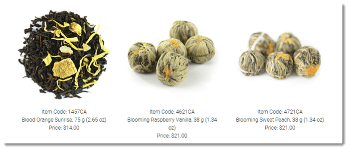 Steeped Tea Selection