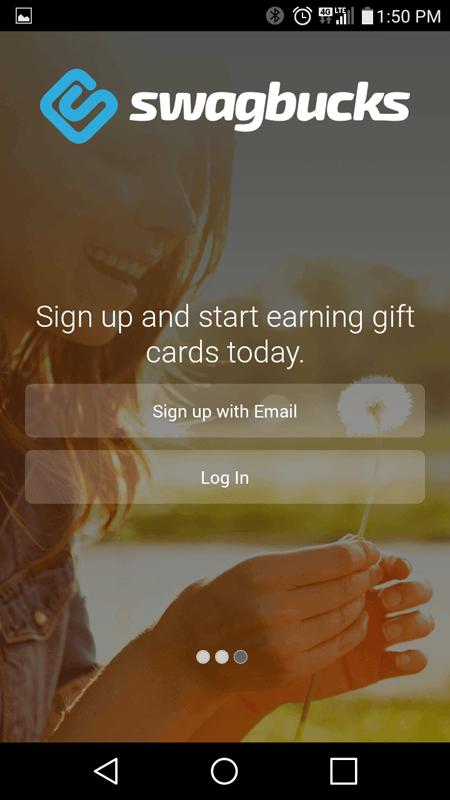 Swagbucks Sign Up Screen