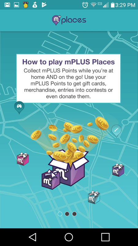mPlus Places Intro Screen
