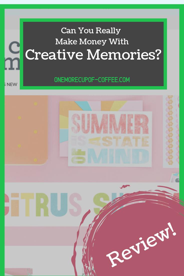 make money creative memories
