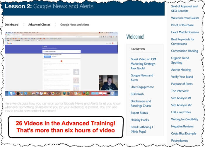 AffiliateU Advance Courses