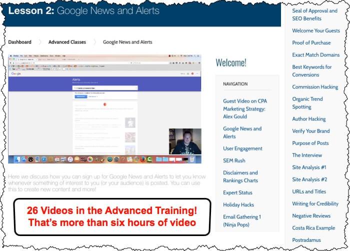 AffiliateU Advance Courses