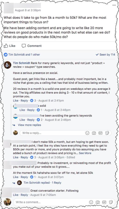 AffiliateU Engagement Facebook Group