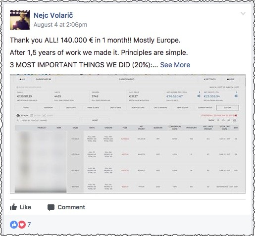 AmaSuite FB group success story