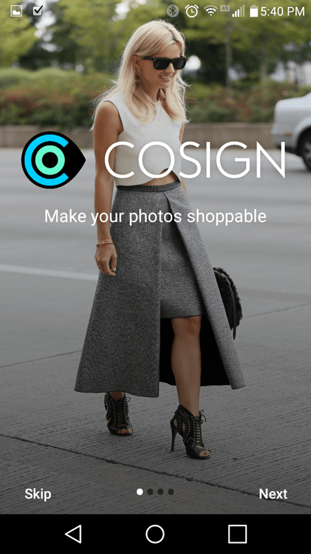 CoSign Intro Screen