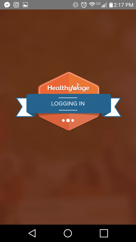 HealthyWage Logging In