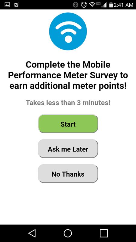 Mobile Performance Meter Survey