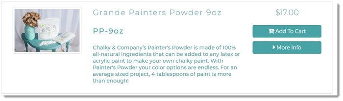 Painters Powder from Chalky & Company