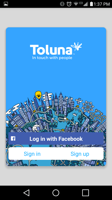 Toluna Registration Screen