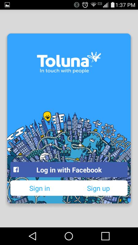 Toluna Registration Screen