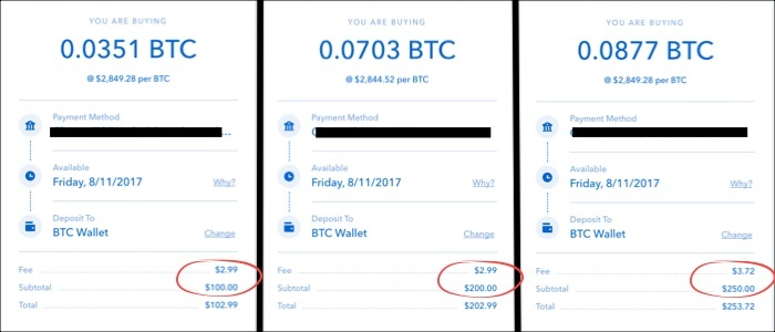 coinbase bank fees