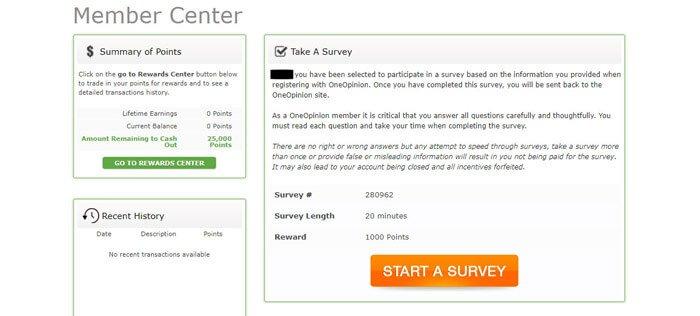 I Found A Survey To Take On OneOpinion