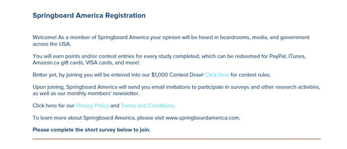 Signing Up For Springboard America