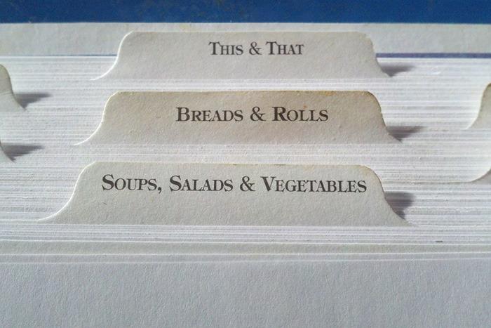 Photo of recipe cards