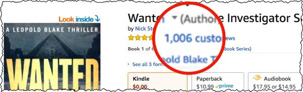 over 1000 reviews on kindle alone for one book