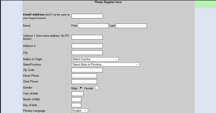 Registration Main