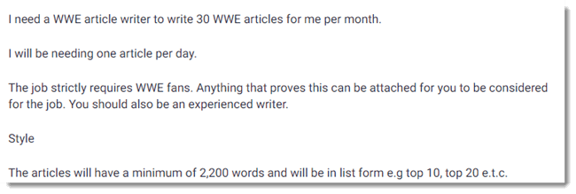 Wrestling Article