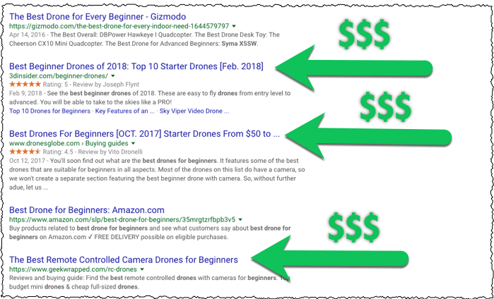 getting paid for product reviews in Google