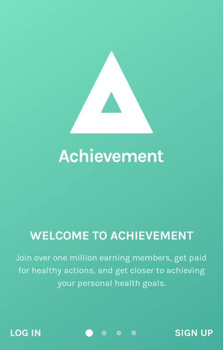 Achievement Welcome Screen
