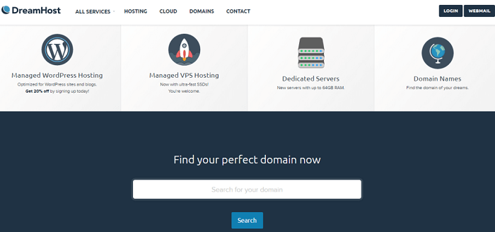DreamHost Hosting Options