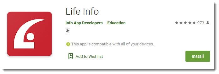 Life Info App