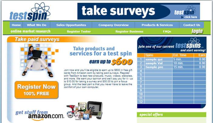 Make Money TestSpin