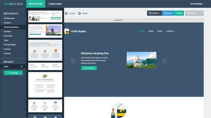 SiteBuilder Website Builder