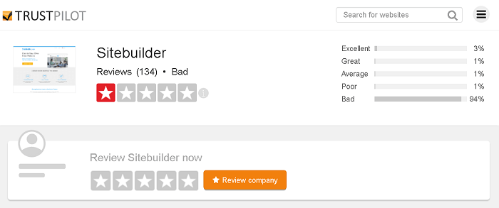 TrustPilot SiteBuilder Reviews