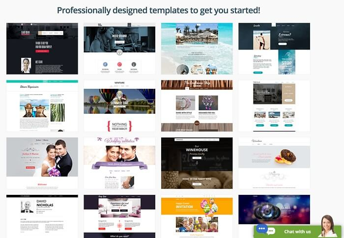 SiteGround Free Website Templates