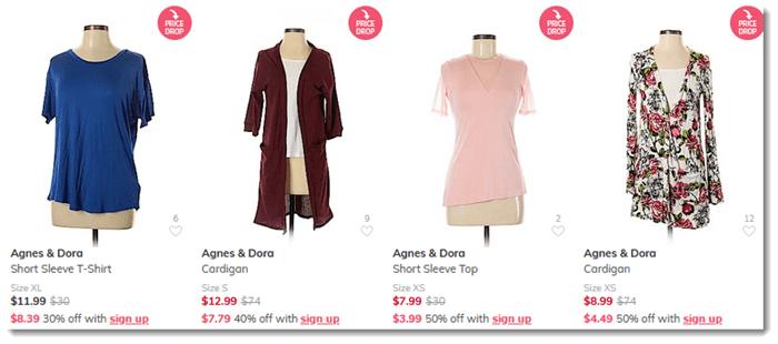 ThredUp Sales of Agnes & Dora Products