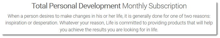 Total Personal Development Monthly Subscription