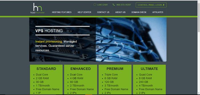 VPS hosting from HostMonster for your website