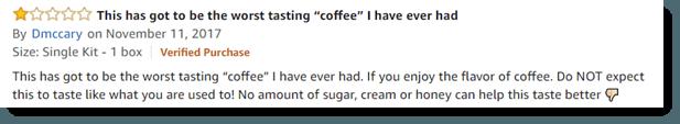 Worst Tasting Coffee
