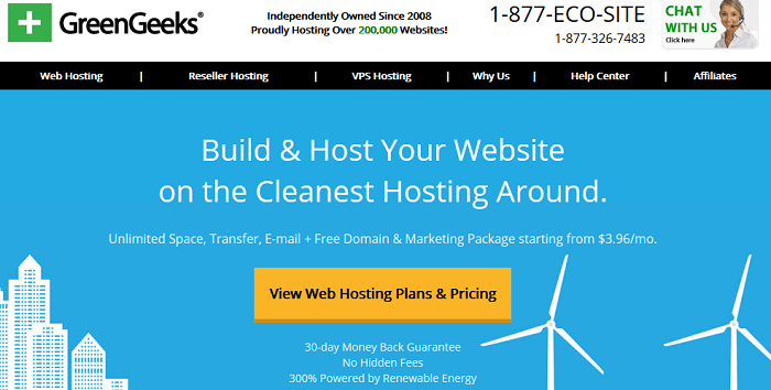 Affordable shared hosting plans from Green Geeks