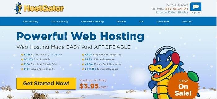 HostGator Home Page